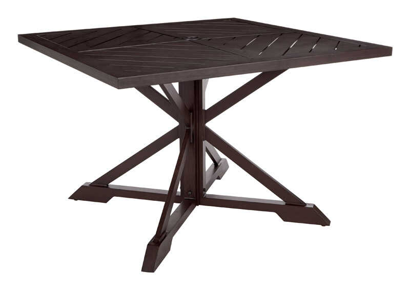 Living Accents  Brown  Estate  Square  Dining Table