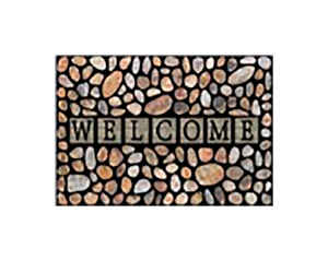 Bacova Guild  Welcome  Multi-color  Rubber  Nonslip Floor Mat  30 in. L x 18 in. W