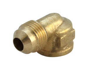 JMF  1/4 in. Flare   x 1/8 in. Dia. FPT  Yellow Brass  Elbow