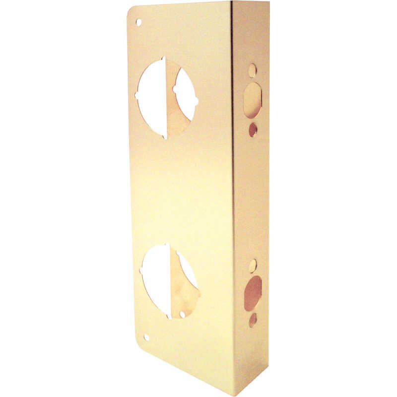 Prime-Line Lock and Door Reinforcer Entry 2.31 in. 9 in. x 3.87 in. x 2.31 in. Brass Solid Brass Use