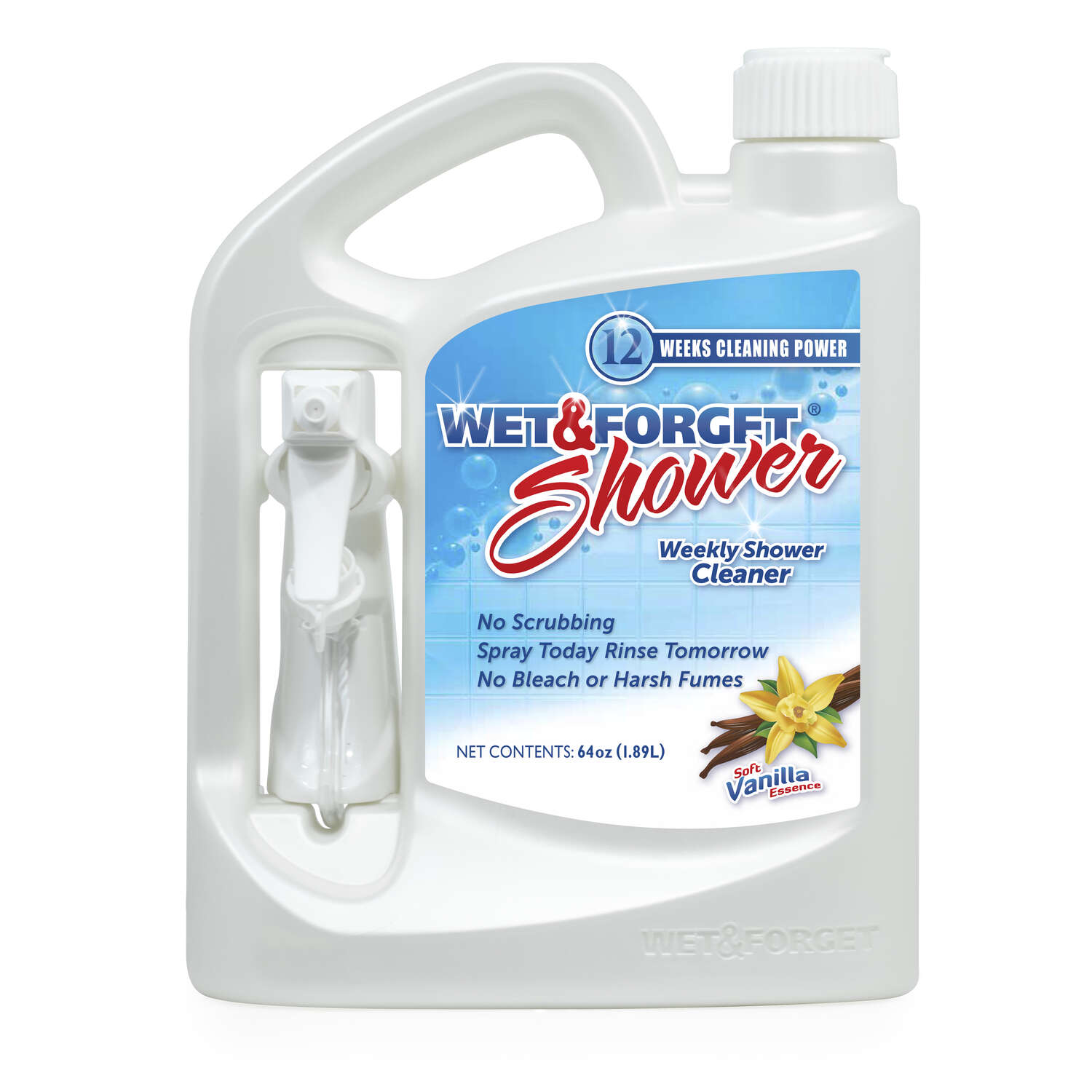 Wet and Forget Vanilla Scent Shower Cleaner 64 oz. Spray