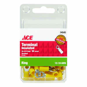 Ace  Insulated Wire  Ring Terminal  50 pk