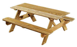 Georgia Vitrified  Wood  Brown  Picnic Table