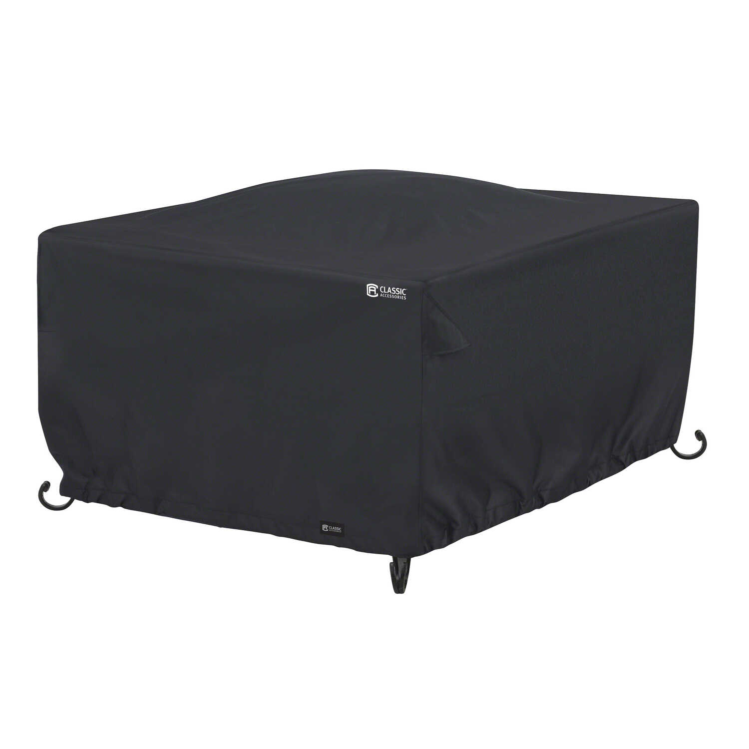 Classic Accessories  42 in. W x 42 in. L Black  Polyester  Fire Pit Cover