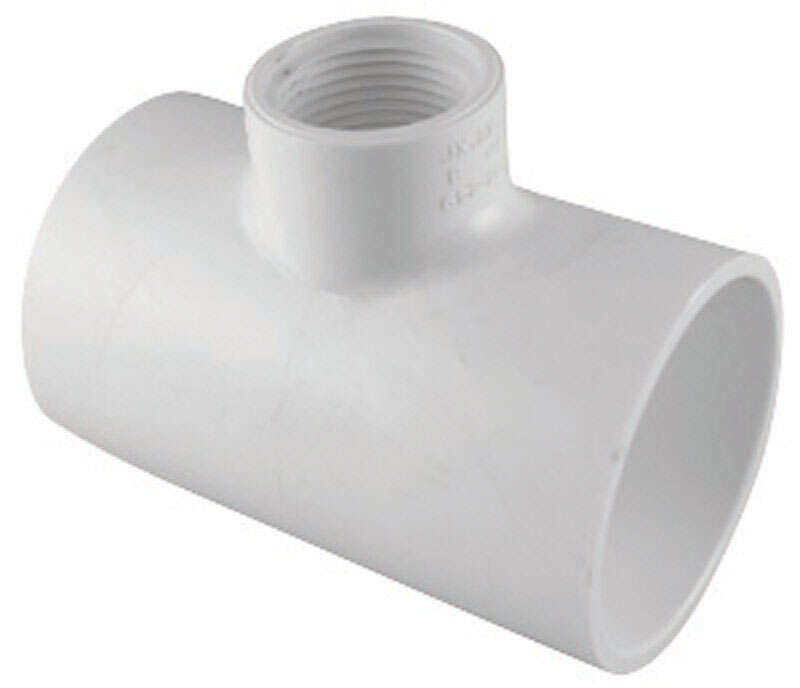 Charlotte Pipe  Schedule 40  2 in. Slip   x 2 in. Dia. Slip  PVC  Reducing Tee