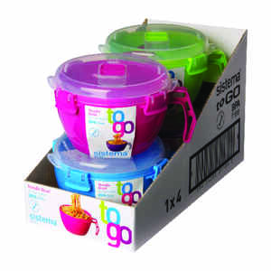 Sistema Noodle Bowl Microwave/Freezer 4 cup  Assorted