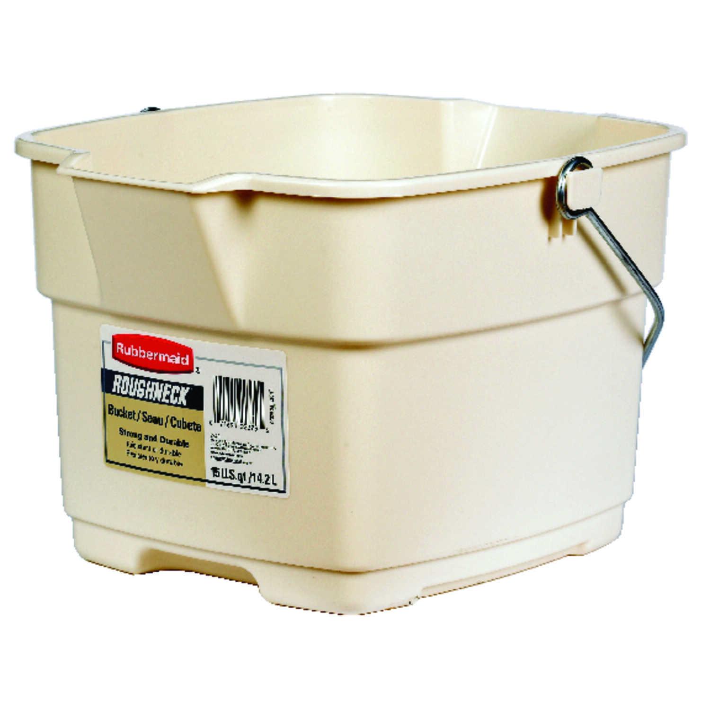 Rubbermaid 15 qt. Bucket Bisque - Ace Hardware