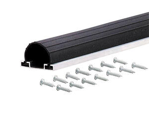 M-D Building Products  Black  Aluminum/Vinyl  Weather Stripping  For Garage Door 9 ft. L x 2-3/4 in.