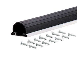 M-D Building Products  Black  Aluminum/Vinyl  Weather Stripping  9 ft. L x 2-3/4 in.  For Garage Doo