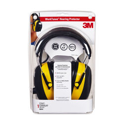 3M WorkTunes 24 dB Plastic Professional Hearing Protectors Black/Yellow 1 pk