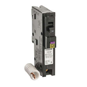 Square D  HomeLine  15 amps Arc Fault/Ground Fault  Single Pole  Circuit Breaker