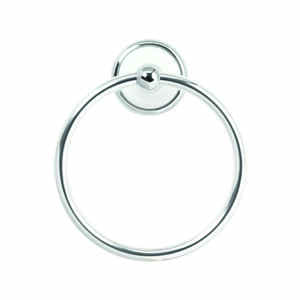 Franklin Brass  Bellini  Polished Chrome/White  Towel Ring  Die Cast Zinc