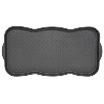 Sports Licensing Solutions  Tred  Black  Plastic  Nonslip Boot Tray  30 in. L x 15 in. W
