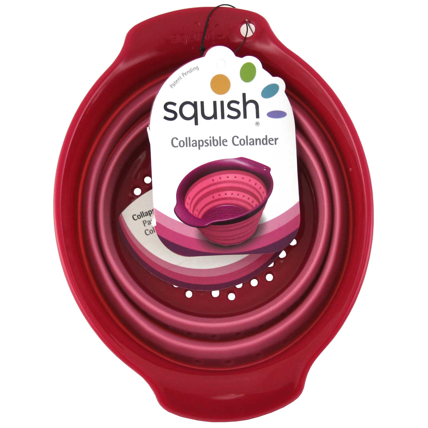 Squish  5-9/16 in. W x 7-5/16 in. L Two Tone Pink  Collapsible Colander