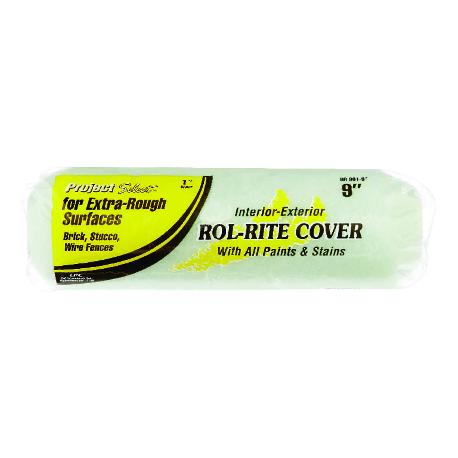 Linzer  Rol-Rite  Polyester  1 in.  x 9 in. W Regular  Paint Roller Cover  For Rough Surfaces 1 pk