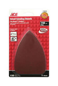 Ace  Mouse  5 in. L x 3-1/2 in. W 150 Grit Aluminum Oxide  Mouse Sandpaper  5 pk Fine