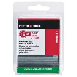 Porter Cable 2-1/2 in. 16 Ga. Straight Strip Finish Nails Smooth Shank 1,000 pk