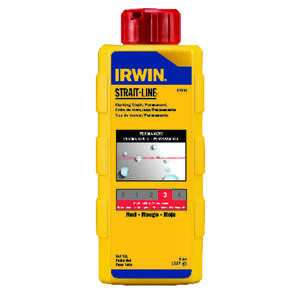 Irwin  Strait-Line  8 oz. Permanent  Marking Chalk  Red