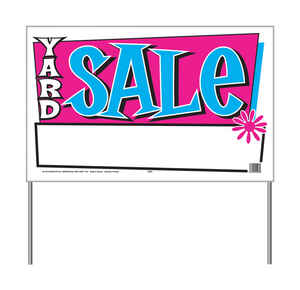 Hy-Ko  English  Yard Sale  Sign  Plastic  16 in. H x 26 in. W