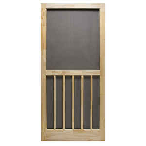 Precision  Nantucket  80-1/2 in. H x 36 in. W Nantucket  Natural Wood  Wood  Screen Door