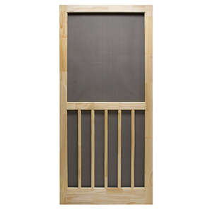 Superior  Nantucket  80-1/2 in. H x 36 in. W Natural Wood  Nantucket  Screen Door  Wood