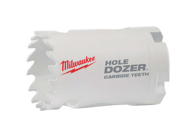 Milwaukee  Hole Dozer  7/8 in. Dia. x 2-1/8 in. L Carbide Tipped  Hole Saw  1/4 in. 1 pc.