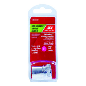 ACE  Chrome  55/64 in.  x 0 in.  Aerator Adapter  1 pack
