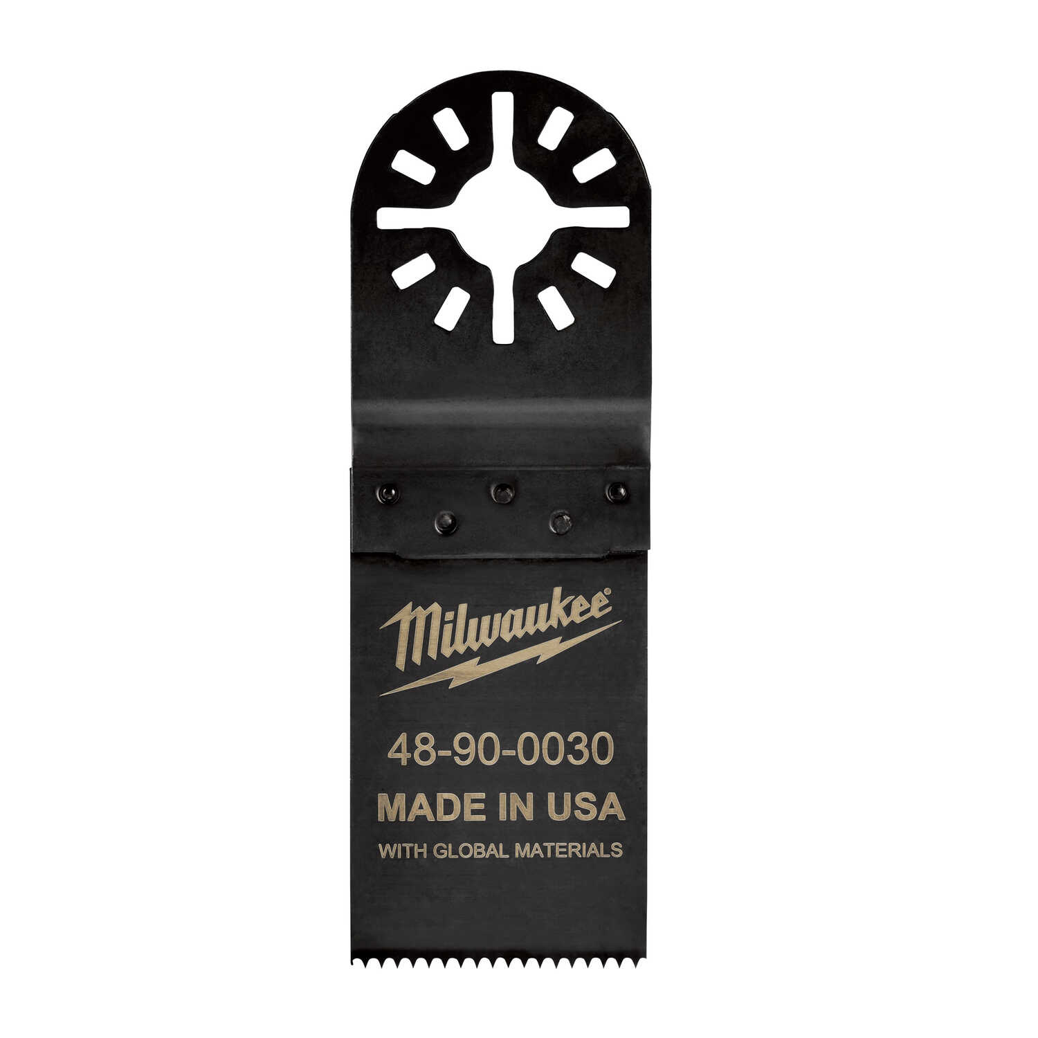 Milwaukee  1.25 in.  x 3-3/4 in. L High Carbon Steel  Black  1 pk Hard Point Multi-Tool Blade
