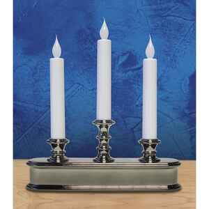 Celebrations  No Scent Polished Nickel  Auto Sensor  Candle  10 in. H