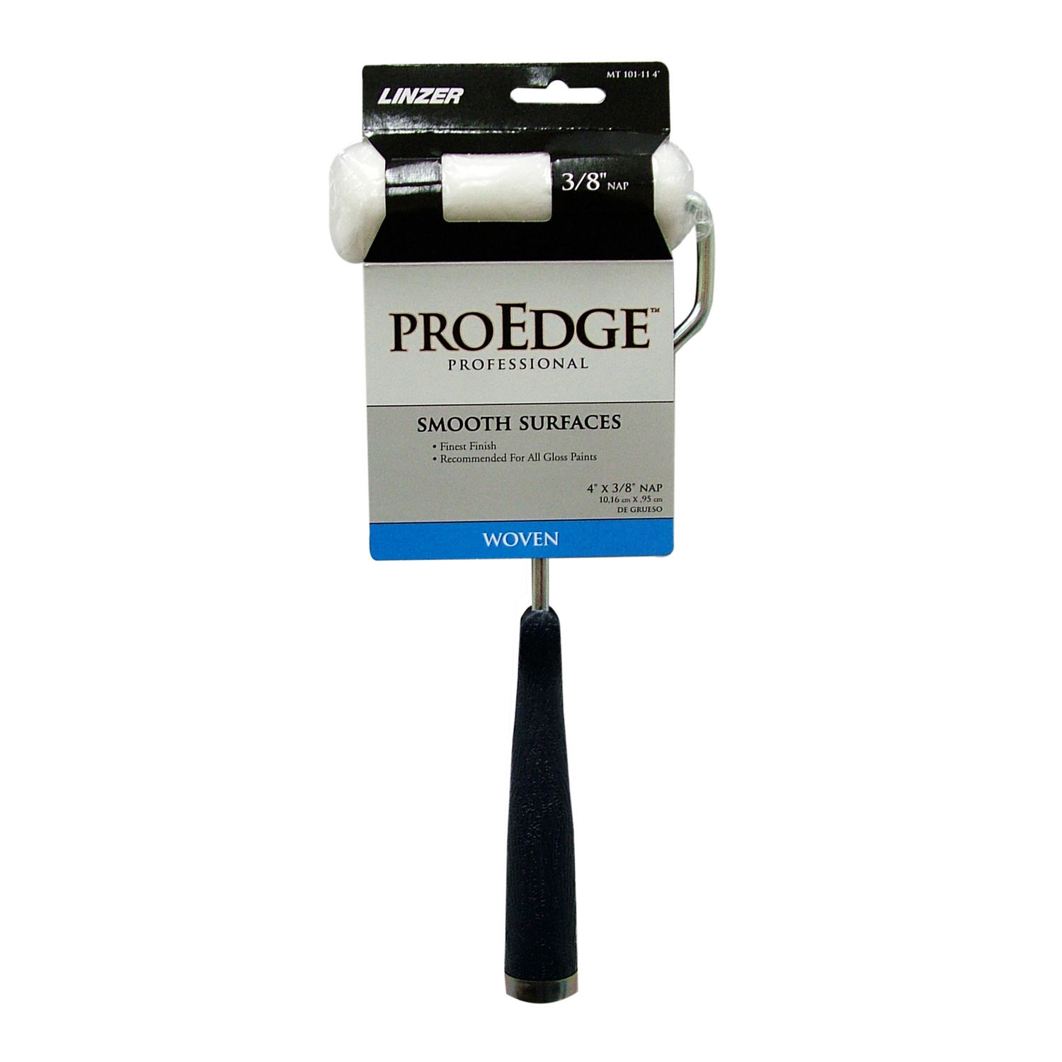 Linzer  Pro Edge  Threaded End 4 in. W Metal/Plastic  Mini  Paint Roller Frame and Cover