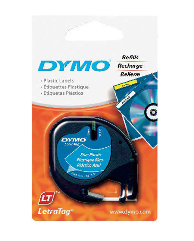Dymo  1/2 in. W x 156 in. L Lable Maker Tape  Blue
