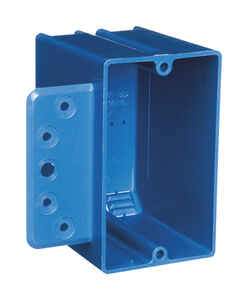 Carlon  3-3/4 in. Rectangle  PVC  1 gang Switch Box  Blue  1 Gang