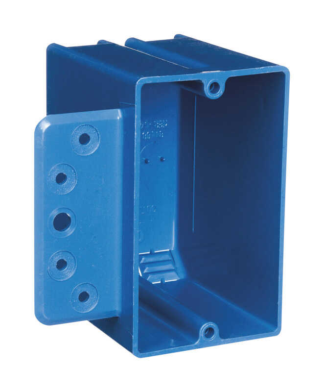 Carlon  3-3/4 in. PVC  Rectangle  Switch Box  Blue  1 gang