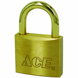Ace  1-5/16 in. H x 1-1/2 in. W x 17/32 in. L Brass  Double Locking  Marine Padlock  1 pk