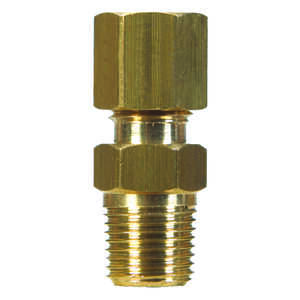 JMF  3/8 in. Dia. x 1/2 in. Dia. Brass  Compression Connector