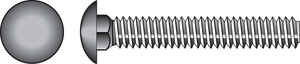 HILLMAN  1/4 in. Dia. x 1 in. L Zinc-Plated  Steel  Carriage Bolt  100 pk