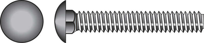 HILLMAN  1/4  Dia. x 1 in. L Zinc-Plated  Steel  Carriage Bolt  100 pk