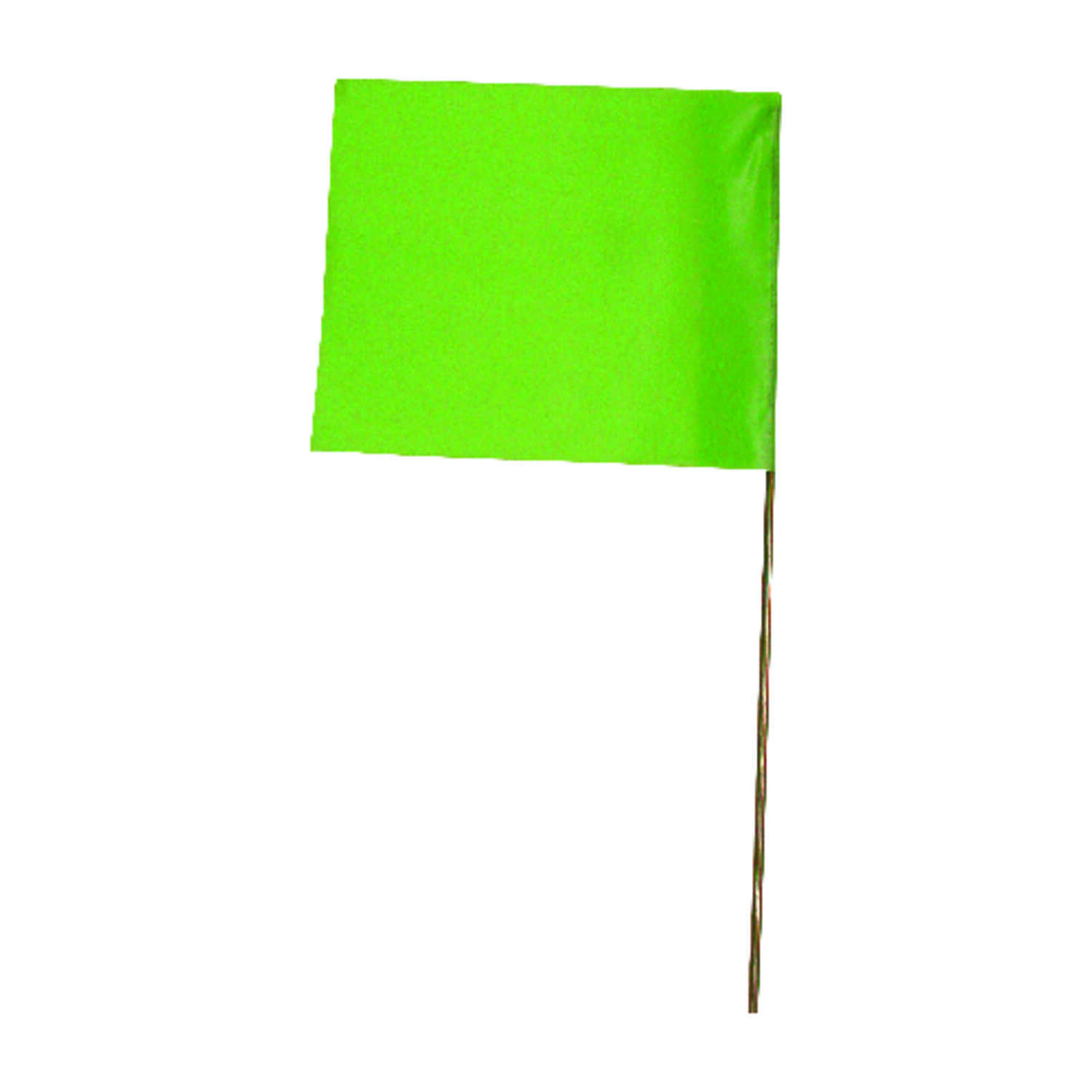 C.H. Hanson  15 in. Fluorescent Lime  Marking Flags  Polyvinyl  10 pk