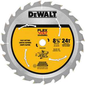 DeWalt  Flexvolt  8-1/4 in. Dia. x 5/8 in.  Carbide Tipped Steel  Table Saw Blade  24 teeth 1 pk