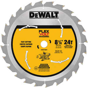 DeWalt  Flexvolt  8-1/4 in. Dia. x 5/8 in.  Table Saw Blade  Carbide Tipped Steel  24 teeth 1 pk
