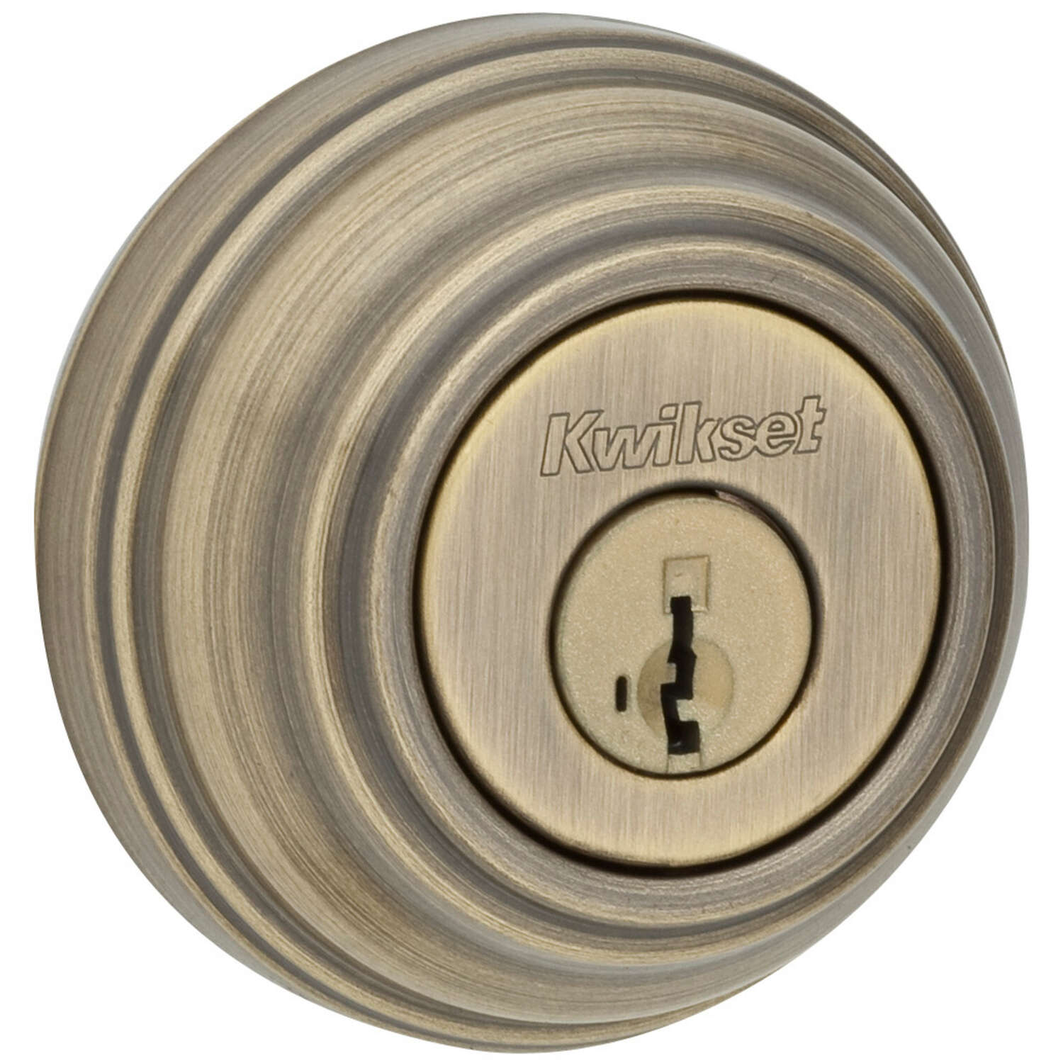 Kwikset SmartKey Antique Brass Metal Deadbolt