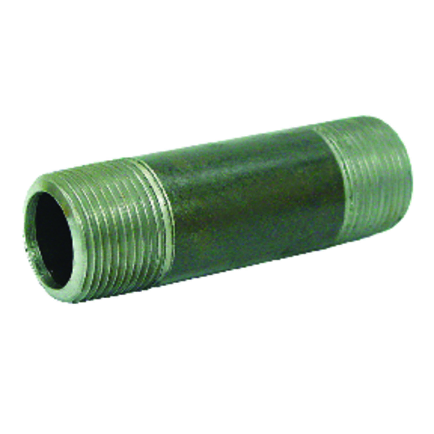 Anvil  Beck  1-1/2 in. MPT   x 1-1/2 in. Dia. x 1-3/4 in. L MPT  Galvanized  Steel  Pipe Nipple