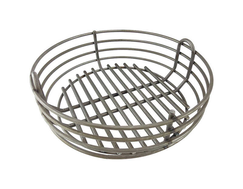 Kick Ash Basket  Raw Steel  Charcoal Basket  Big Green Egg- MiniMax