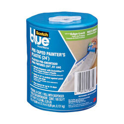 Scotch Blue  24 in. W x 48 in. L Plastic  Pre-Taped Masking Film