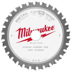 Milwaukee  Metal Tech  5-3/8 in. Dia. x 20 mm  Ferrous  Carbide  Metal Blade  30 teeth 1 pk