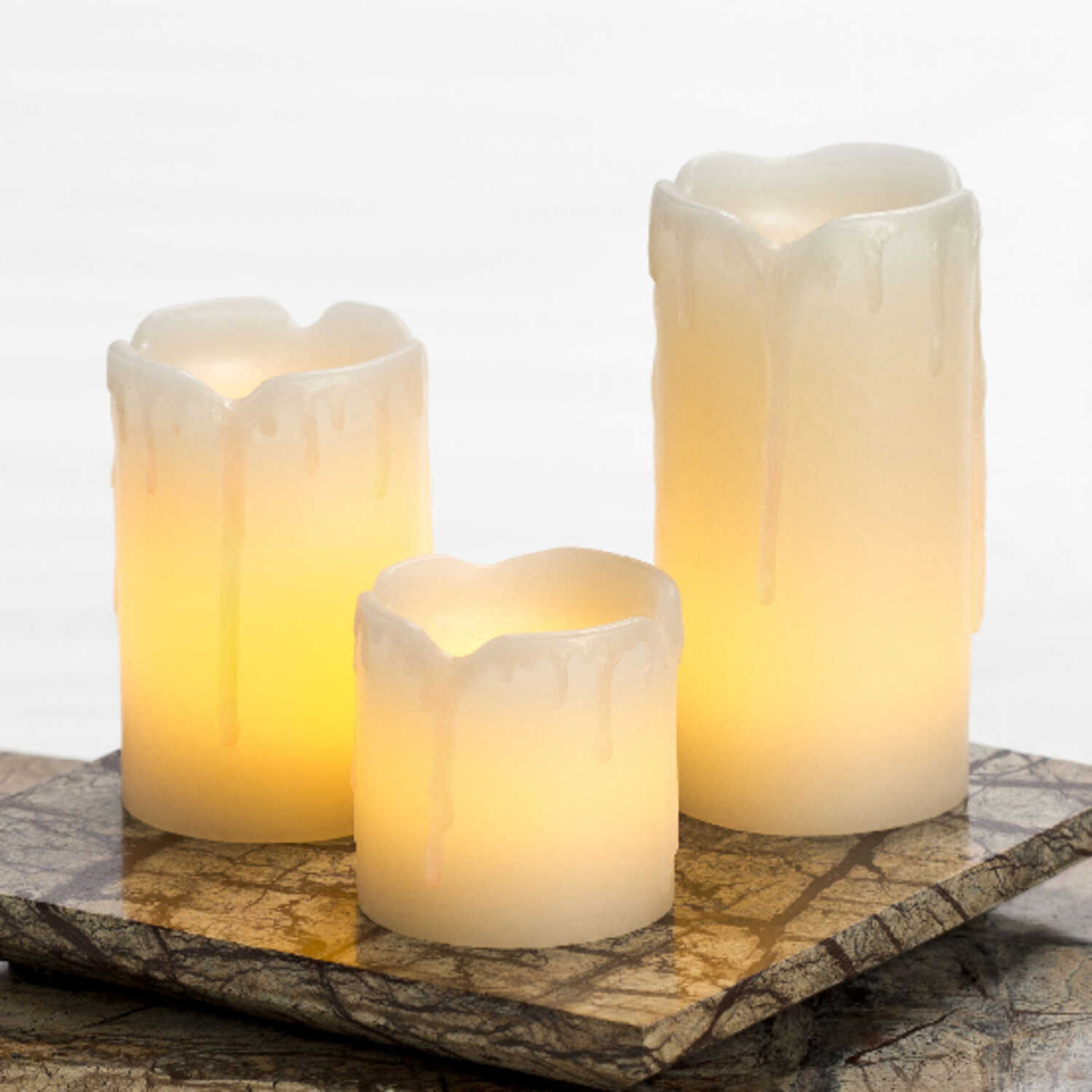 Inglow  White  Pillar  Candle  2 3 4 in. H