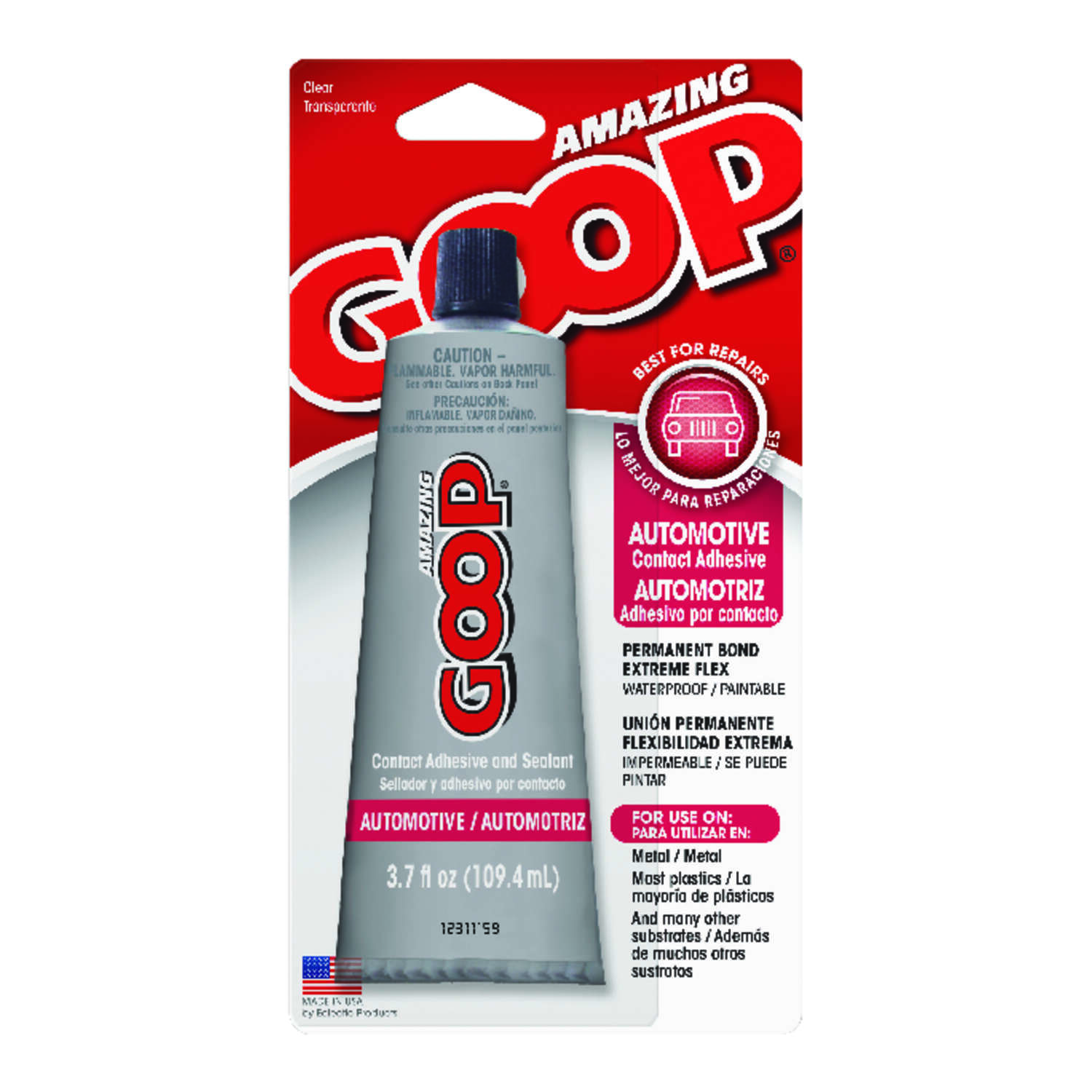 Goop  High Strength  Liquid  Automotive Adhesive  3.7 oz.