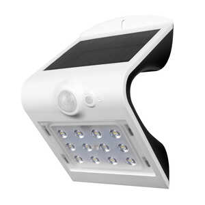 Luceco  White  Motion-Sensing  LED  Solar Motion Sensing Wall Light