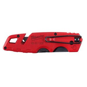 Milwaukee  Fastback  6-1/2 in. Press and Flip  Utility Knife Set  Red  2 pk