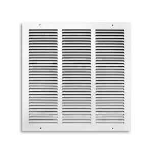 Tru Aire  16 in. H x 1/4 in. D 1-Way  White  Steel  Return Air Grille